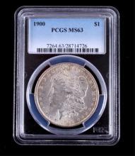 1900-P Morgan Silver Dollar PCGS MS63 This coins w