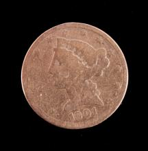 1901 Liberty Five Dollar Gold Coin This is an orig