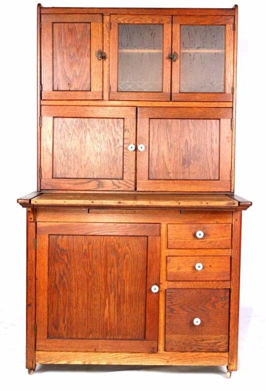 Antique Oak Hoosier Cabinet The Piece Shows A Quar
