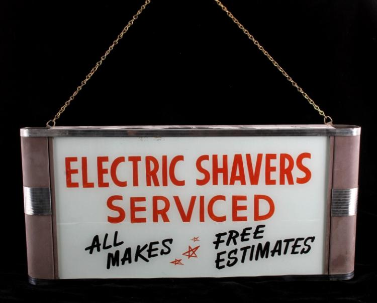 Electric Shavers Neon Lighted Advertising Sign