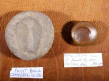 Pre-Historic Jasper & Stone Paint Bowls S. Dakota