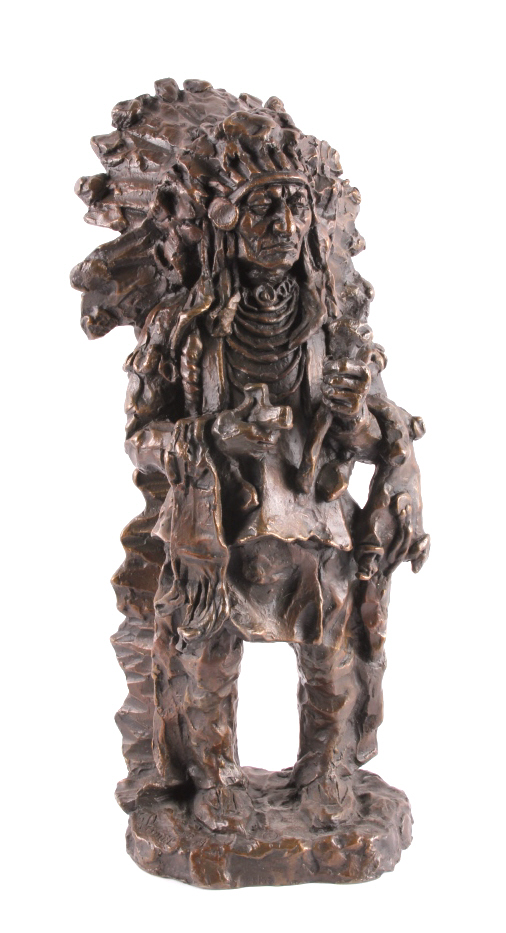 Gary Schildt Sitting Bull Bronze Sculpture
