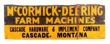 McCormick-Deering Sign From Cascade Montana c.1923
