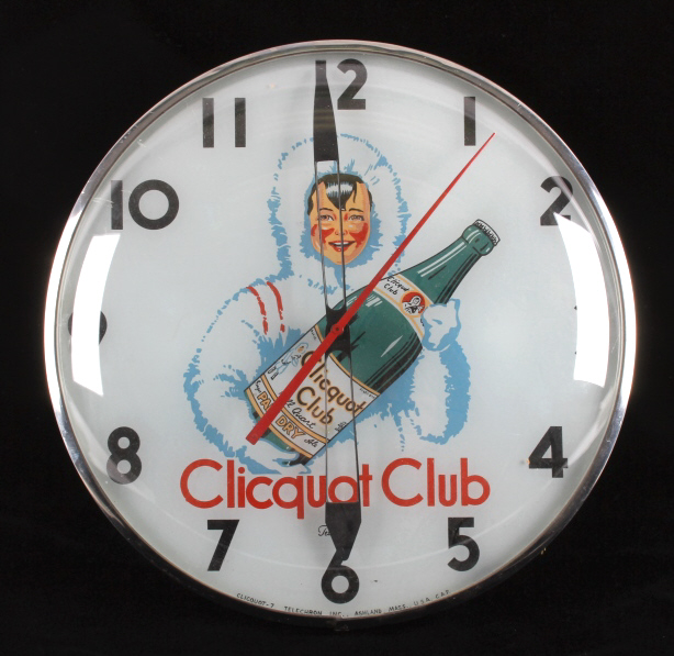 Clicquot Club Lighted Clock from Butte Montana