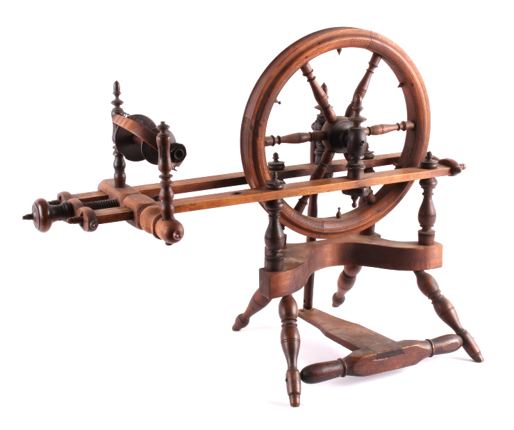 Antique Wooden Spinning Wheel