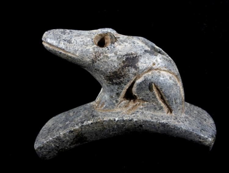 Cherokee Frog Effigy Pipe c.1800-1900 w/ COA