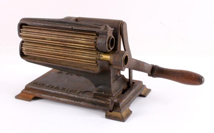 Antique Cast Iron & Brass Eagle Fluter Iron