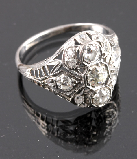 Edwardian Platinum Diamond Ring 1 Carat c. 1920's