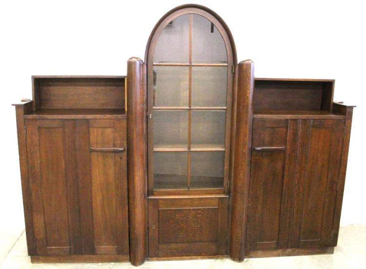 Early Oak Pander & Zonen Gentleman's Cabinet