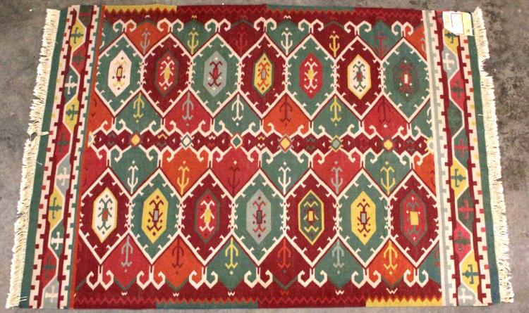 Couristan Cotton Kilim Indian Rug Stone Washed