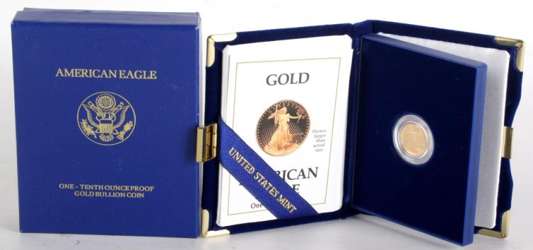 American Eagle One-Tenth Ounce Gold Proof Coin
