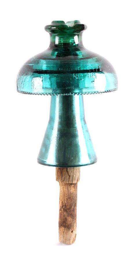 Antique 1800's Hemingray Muncie Glass Insulator