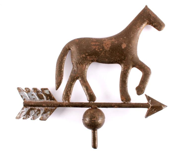 Early American Tin Horse Weathervane