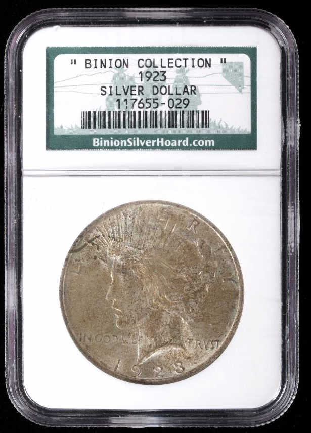 Binion Collection 1923 Silver Peace Dollar