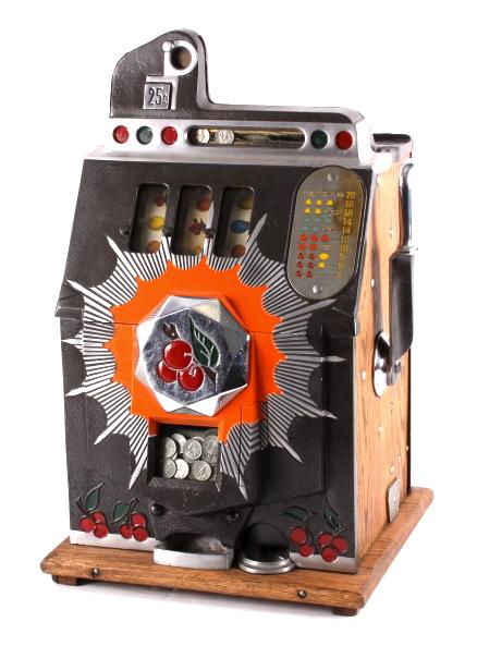 1930's Mills Bursting Cherry 25¢ Slot Machine