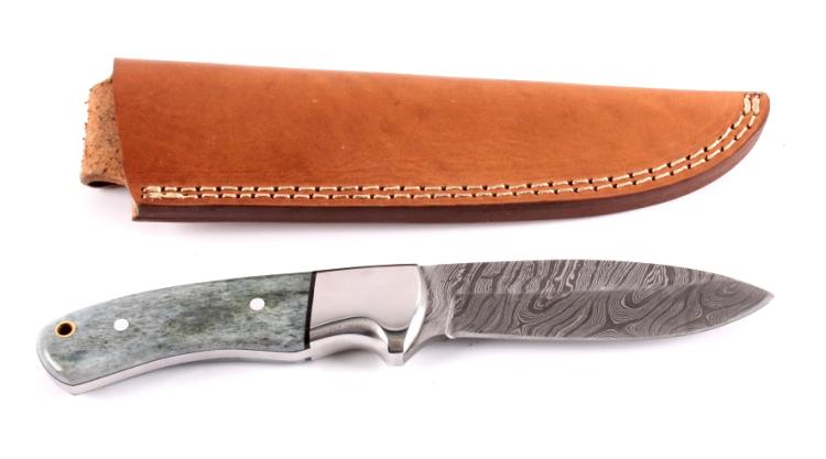 CFK Damascus & Exotic Camel Bone Knife