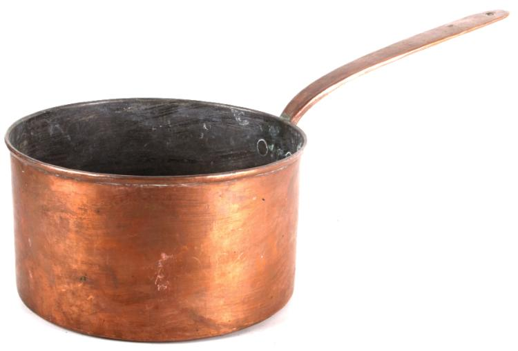 Dovetailed Copper Saucepan With Heart Handle 1850