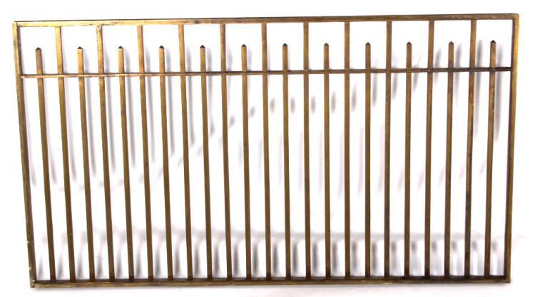 Antique Brass Bank Teller Window Guard
