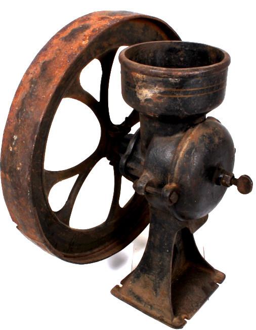 Custom Antique Cast Iron Coffee Grinder