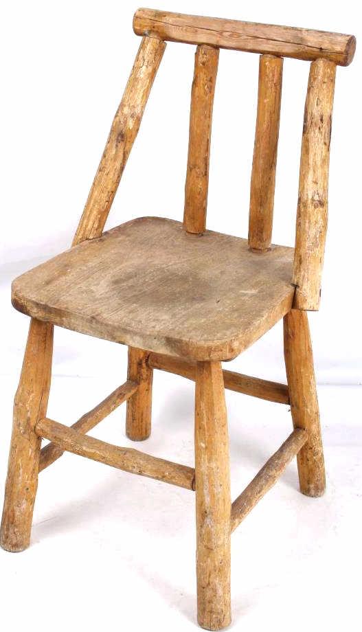 Custom Montana Hand Hewn Wooden Chair