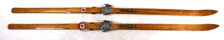 Antique Jota Sports Swedish Wood Skis C.1960's