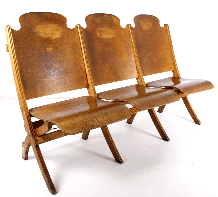 Montana Wooden Frame Folding Theater Chairs