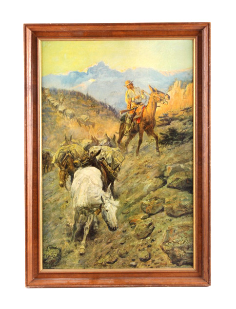 Charles Russell Framed Print On Canvas