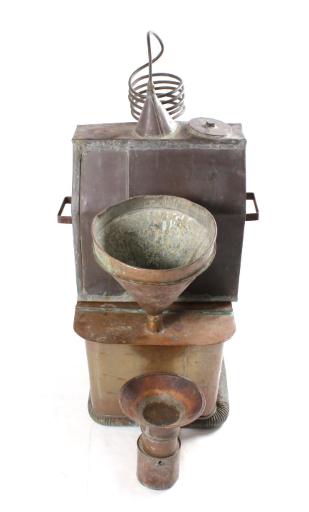 Prohibition Era Handbuilt Copper Moonshine Still