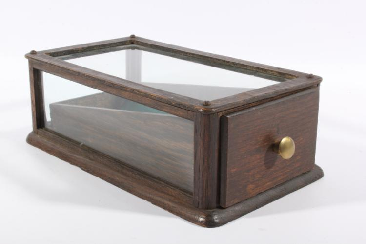 Antique Oak Mercantile Fine Goods Display Case
