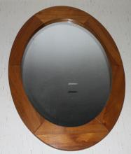 Wood Framed Mirror Beleived to be Cherry wood. 43