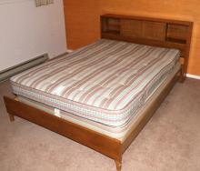 Cherry Queen Bedroom Set Bed is Queen Size. Locate