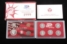 1999-S US Mint Silver Proof Set (9 Coins) RARE