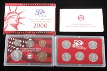 2000-S US Mint Silver Proof Set (10 Coins)