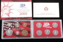 2001-S US Mint Silver Proof Set (10 Coins)