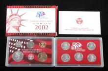 2002-S US Mint Silver Proof Set (10 Coins)