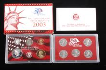 2003-S US Mint Silver Proof Set (10 Coins)