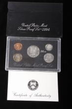 1994-S US Mint Silver Proof Set (5 Coins)