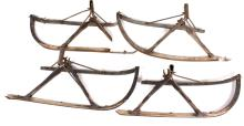 Antique Set Of Horse Sleigh Runners