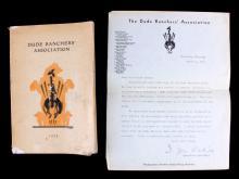 1930 Dude Ranchers' Association Meeting Book