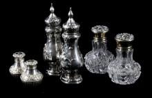 Sterling & Crystal Salt Shakers Collection