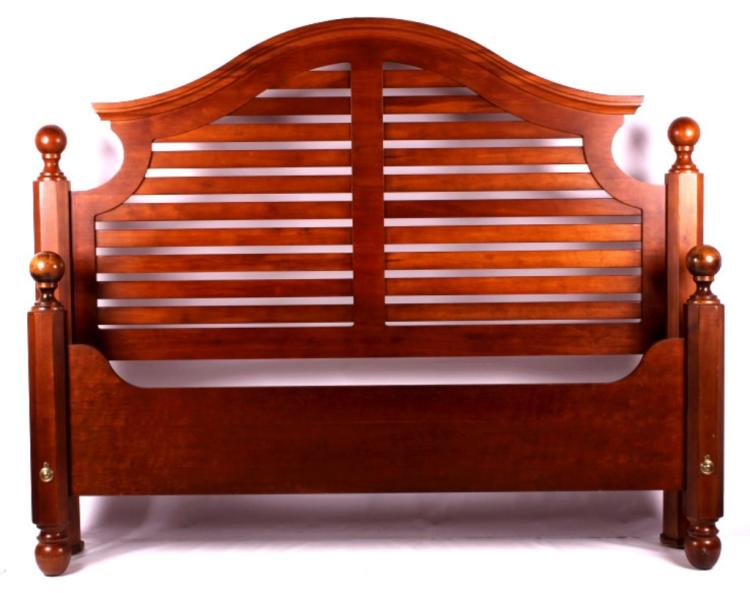 Ethan allen king size solid wood bed North american wood furniture