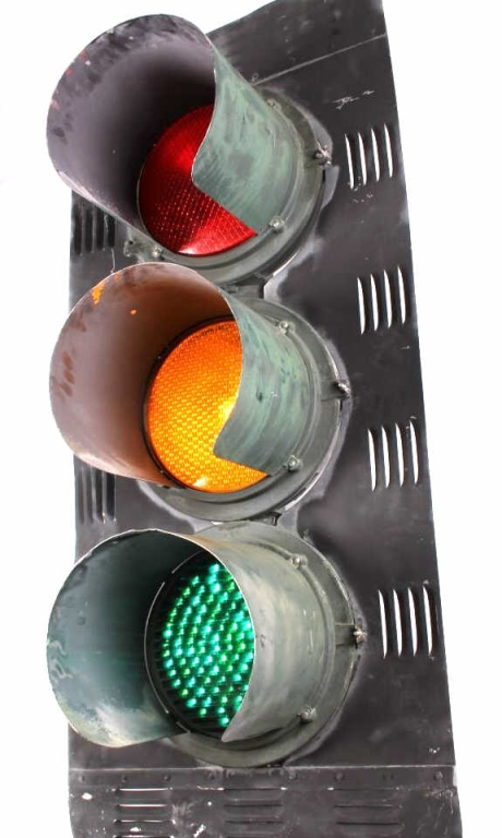 Montana Econolite Rare Large Traffic Light