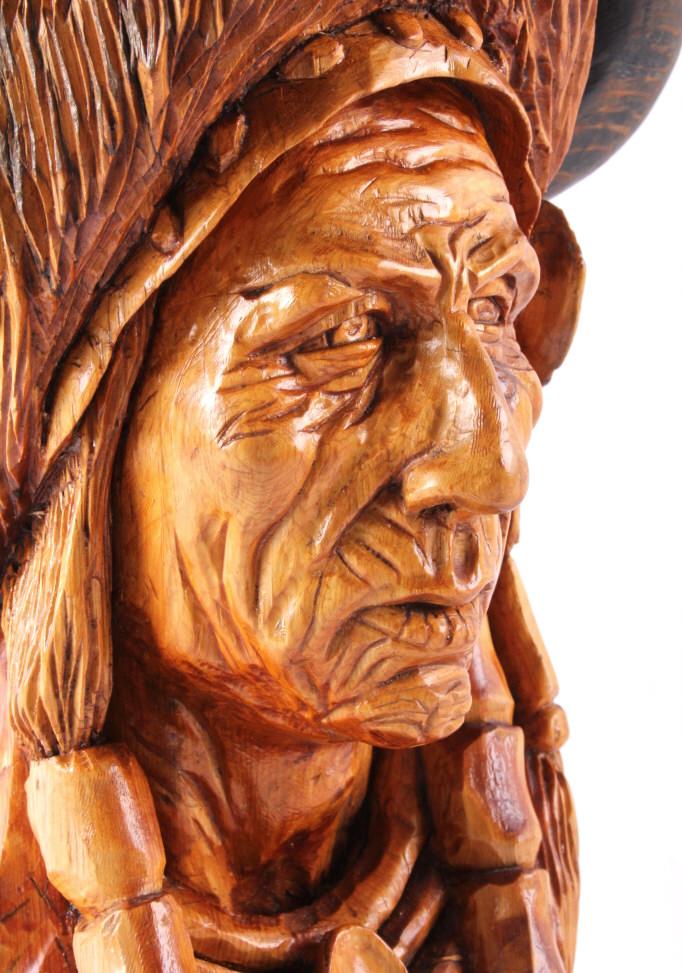 Original dan schnetter wood carving
