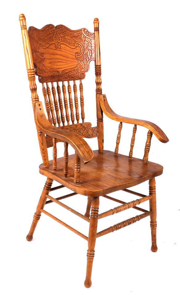 Pressed Back Dining Chairs ~ Oak dining room table with pressed back chairs