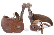 August Buermann Forged Steel Spurs 1880-1915