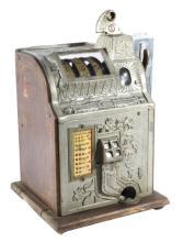 Mills Poinsettia 5¢ Slot Machine Side Vendor 1920