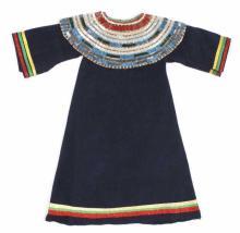 Nez Perce Bugle Beaded Woman's Dress c. 1900