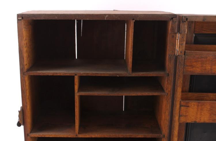 antique de laval separator oak cabinet