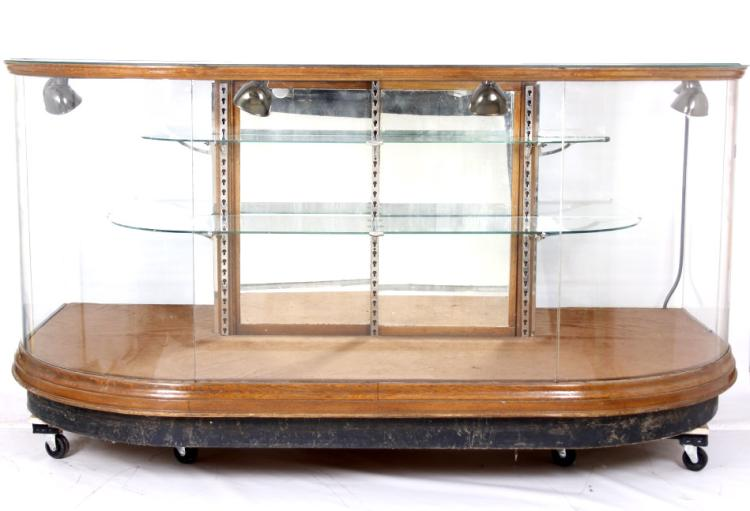 Early Store Front Curved Glass Display Case 1900 39 S
