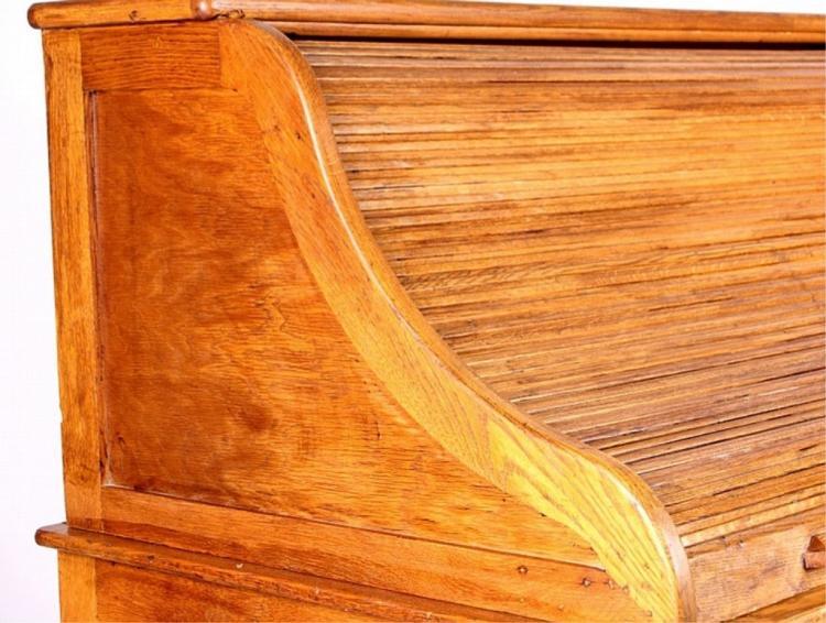 U S Office Furniture Co Oak Roll Top Desk C 1913